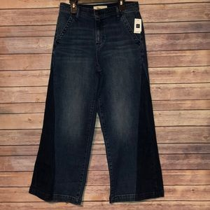 Gap Cropped Flare Two Toned Jeans Size 27
